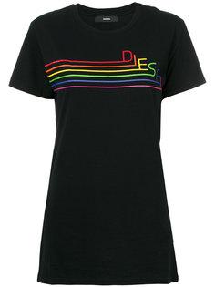 футболка с принтом-радугой Diesel