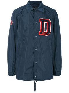 куртка с нашивкой-инициалом Diesel