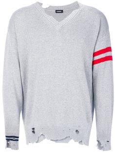 свитер Kurt с эффектом потертости  Diesel