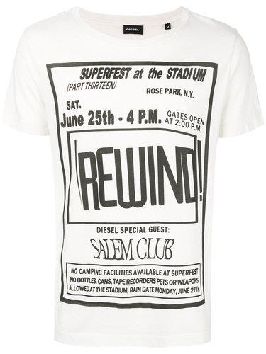 футболка с принтом 'Rewind' Diesel