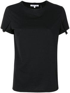 футболка с драпировкой на рукавах Helmut Lang
