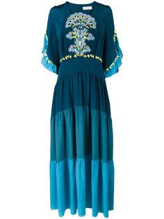 платье-макси с вставками из гипюрного кружева Peter Pilotto