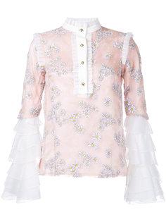 блузка с рисунком из ромашек и оборками Macgraw