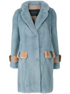 пальто с отделкой мехом Blancha