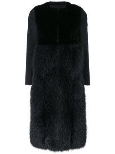 пальто со вставкой из меха Blancha