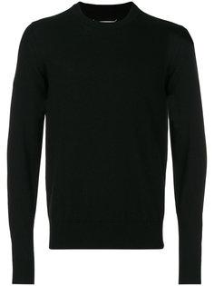 свитер с круглым вырезом и нашивками на локтях  Maison Margiela