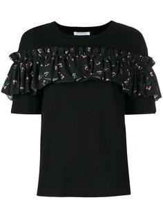 футболка с рюшем с цветочным узором Vivetta