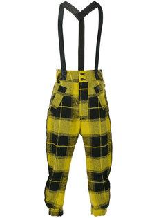 клетчатые брюки на подтяжках Lost & Found Ria Dunn