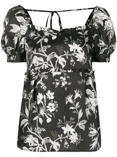 блузка с цветочным рисунком McQ Alexander McQueen