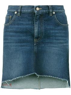 асимметричная мини-юбка с вышивкой Saint Laurent
