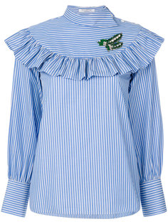 блузка в полоску с оборкой  Vivetta