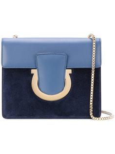 сумка на плечо с серебристой цепочкой  Salvatore Ferragamo