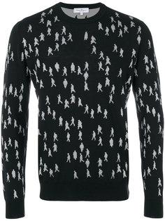 свитер с рисунком в виде людей Salvatore Ferragamo