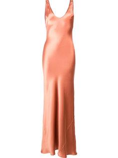 шелковое вечернее платье Galvan