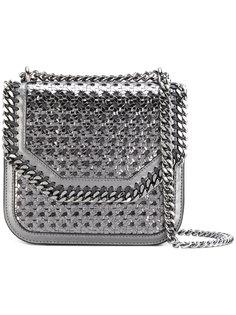 квадратная сумка через плечо плетеного дизайна Falabella Stella McCartney
