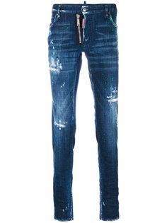 джинсы с эффектом потертости Dsquared2