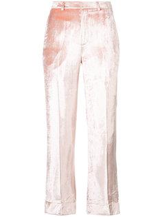 брюки с эффектом металлик Tome