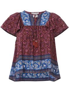 блузка с кисточками и цветочным узором Sea