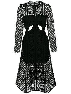 платье с вырезами Payne Self-Portrait