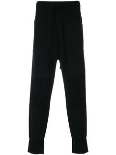 спортивные штаны с молнией сбоку Helmut Lang