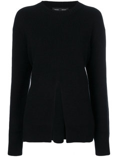 Vented Wool-Cashmere Sweater with Front Slit Proenza Schouler