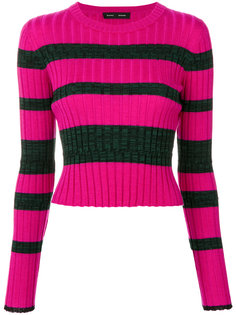 Striped Rib Knit Crewneck Proenza Schouler