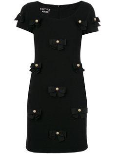 платье с аппликацией бантов Boutique Moschino