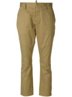 эластичные саржевые укороченные брюки Dsquared2