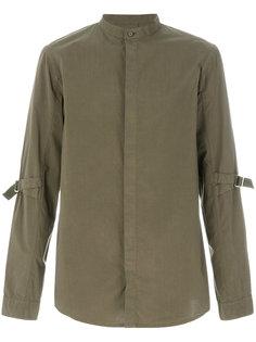 рубашка с ремешками на локтях Helmut Lang