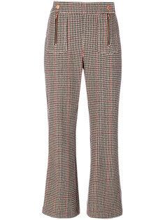 укороченные брюки в ломаную клетку See By Chloé