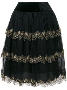 ярусная юбка из тюля  Alberta Ferretti