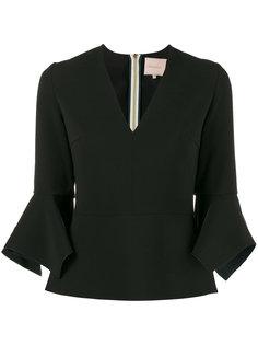 блузка с V-образным вырезом Prila Roksanda