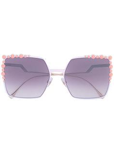 """солнцезащитные очки в оправе """"кошачий глаз"""" Fendi Eyewear"""