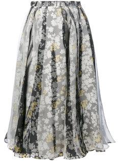 плиссированная юбка с цветами Jil Sander