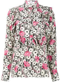 блузка с цветочным принтом Valentino