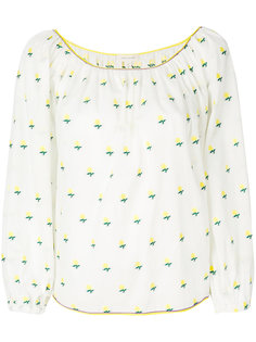 блузка с принтом роз  Marc Jacobs