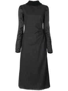 платье-водолазка в клетку  Maison Margiela