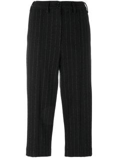 укороченные брюки в тонкую полоску  Mm6 Maison Margiela