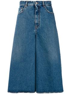 джинсовые брюки палаццо Mm6 Maison Margiela