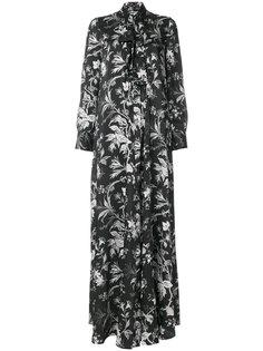 длинное платье с завязкой на бант McQ Alexander McQueen