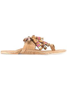 сандалии Scaramouche с кисточками в полоску Figue