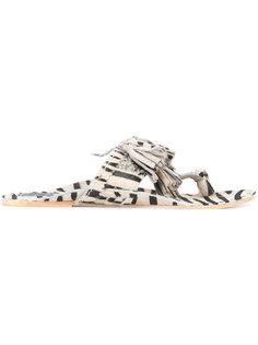 сандалии Scaramouche с зебровым принтом Figue