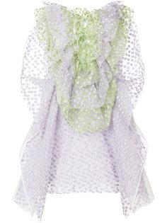 платье с оборками Delpozo