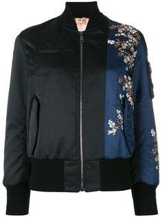 куртка-бомбер с цветочной вышивкой Nº21