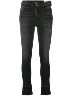 укороченные состаренные джинсы  Twin-Set