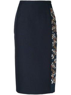 юбка-миди с цветочной вышивкой Nº21