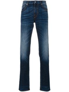 джинсы кроя слим с эффектом обесцвечивания Stone Island