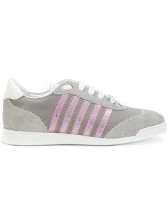 кроссовки с розовой отделкой  Dsquared2