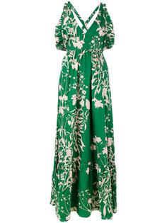 платье с открытыми плечами и цветочным принтом Violeta Borgo De Nor