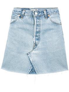 джинсовая мини-юбка с завышенной талией Re/Done
